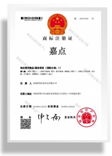 商标注册证书-嘉点